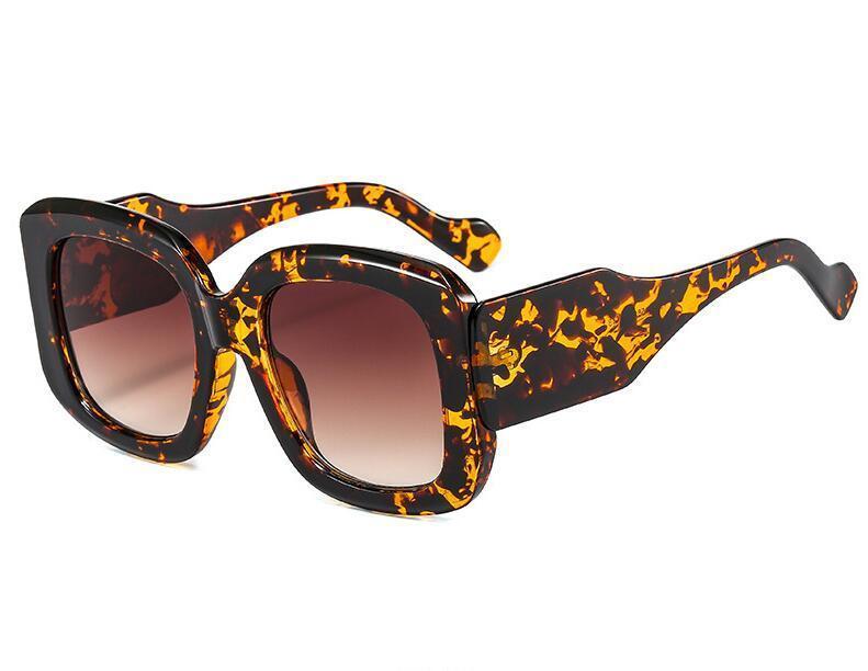 Moda Boy Kare Güneş Kadınlar Vintage Degrade Gözlük Erkekler Trend Yeşil Mor Güneş Gözlükleri Shades UV400