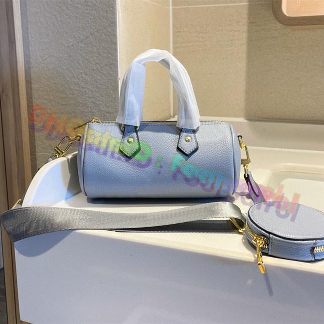 2021 أكياس وسادة الكلاسيكية إمرأة مطبوعة برميل شكل حقيبة جلدية خمر حقائب الكتف مصممي مصمم حقيبة يد الأزياء الصليب الجسم أعلى جودة محفظة محفظة