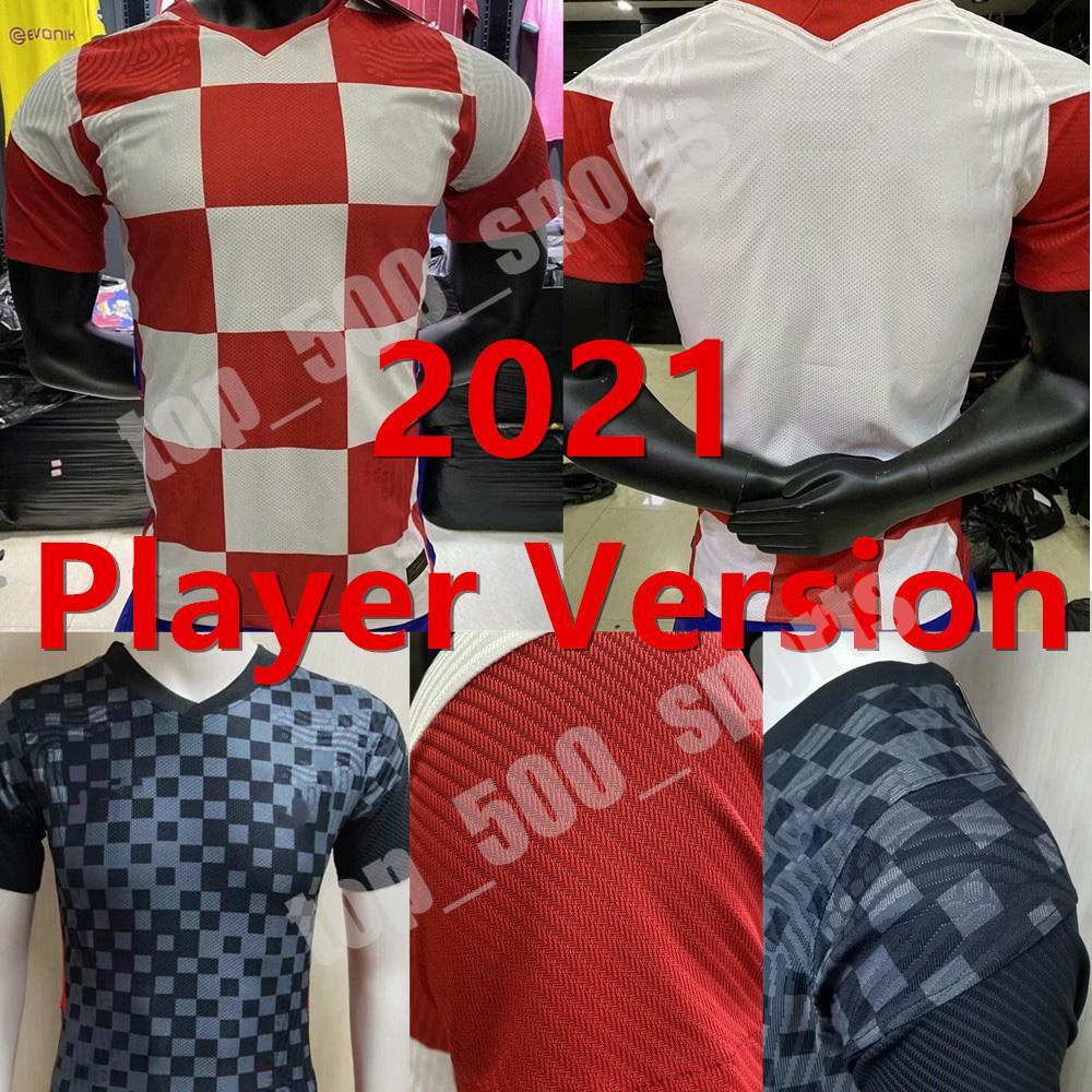 2021 플레이어 버전 유럽 컵 국가 대표팀 Mandzukic 축구 유니폼 21 22 Modric Perisic Kalinic 축구 셔츠 Rakitic Kovacic Mens 유니폼
