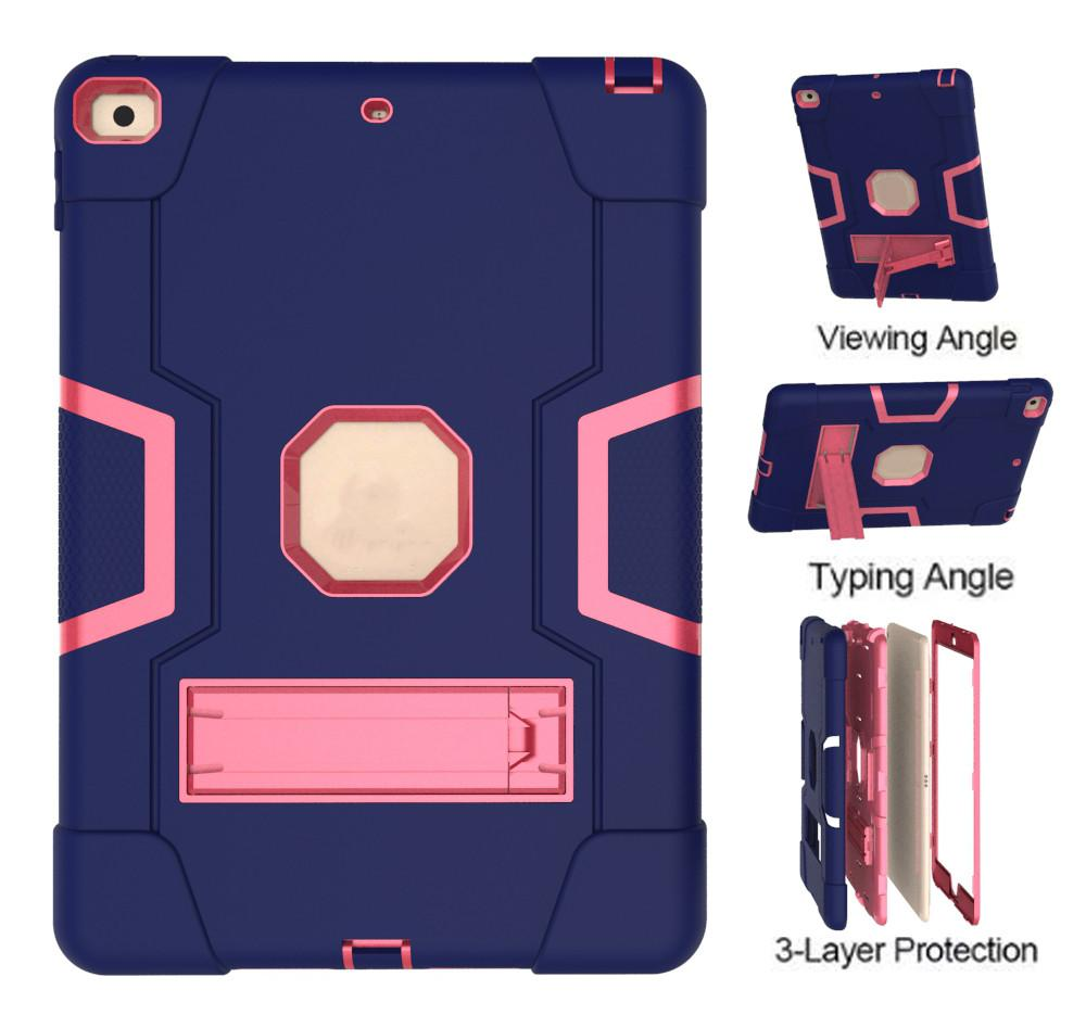 Tablet Cases For Ipad 6/Air2/Pro9.7 Air/5 2/3/4 Kickstand Functions Camera Protection Shock Proof Cover With Pen Holder