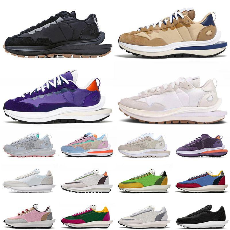 أحذية Sacai x Nike VaporWaffle Pegasus احذية رجالية LDV Waffle Dark Iris Sesame Blue Void Black Gum Sail White Nylon  أحذية رياضية