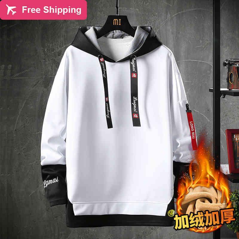 Safable Moda Invierno Ver Dentro Hoodies Harajuku Streetwear Sweatshirt Japanese Hip Hombre