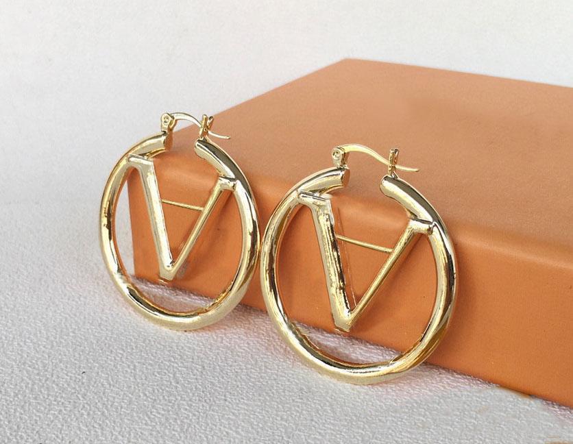 2021 Boucles d'oreilles en or pour dame femmes femmes amants de mariage de mariage fiançailles bijoux mariée avec boîte