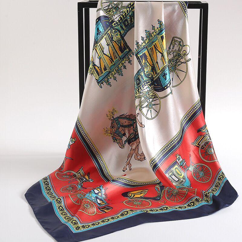Весенний шелковый шарф горячие женщины письма письма шал шарф модные шеи кольцо рождественские подарок оптом