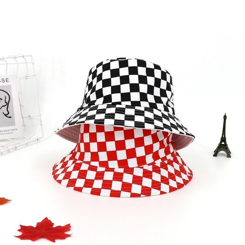 Chapeau de pêcheur de femmes d'été Soleil extérieur Coton pur coton noir et blanc Bonnets de Panama pour hommes