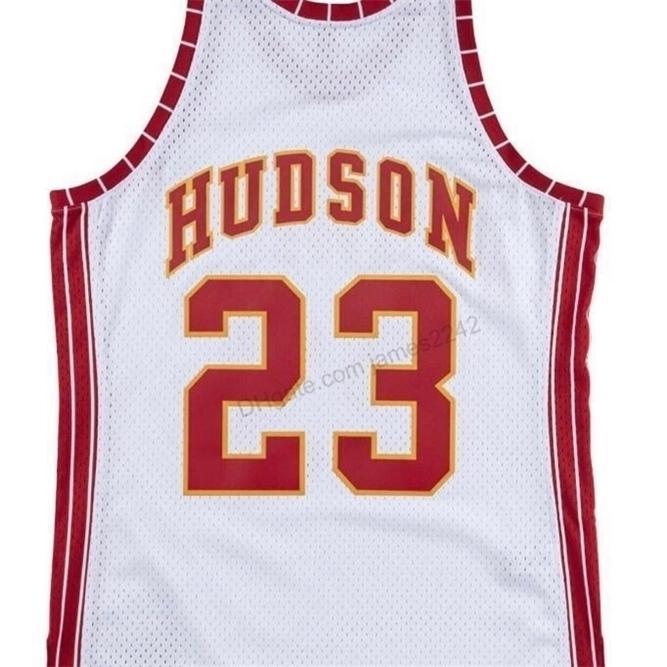 Billig benutzerdefinierte Retro # 23 Lou Hudson Mitchell Ness Basketball Jersey Männer Alles genäht Weiß Jede Größe 2xs-5XL Name oder Nummer Vintage