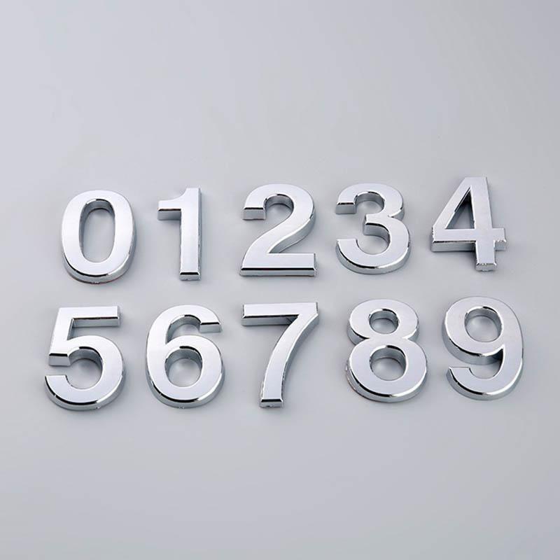 9 숫자 플라크 게이트 로그인 엘 숫자 스티커 현대 집 문 주소 플라스틱 라벨 태그 기타 하드웨어