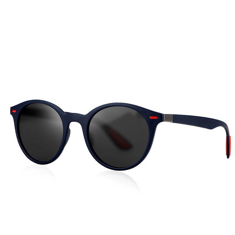 ZXWLYXGX DISEÑO CLÁSICO Retro Remache Gafas de sol polarizadas Hombres Mujeres TR90 Piernas Diseño Ligero Marco Oval UV400 Gafas de Sol