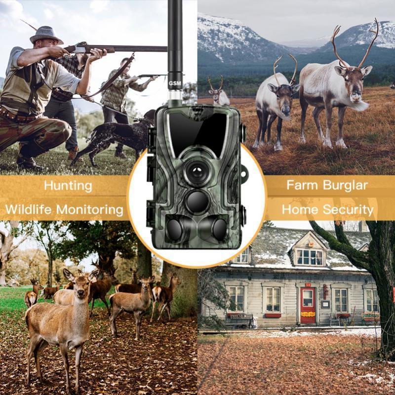 사냥 트레일 카메라 HC801M 적외선 야생 2G SMS MMS PO 트랩 게임 Ghost Deer Feed Hunt Chasse Scout 카메라