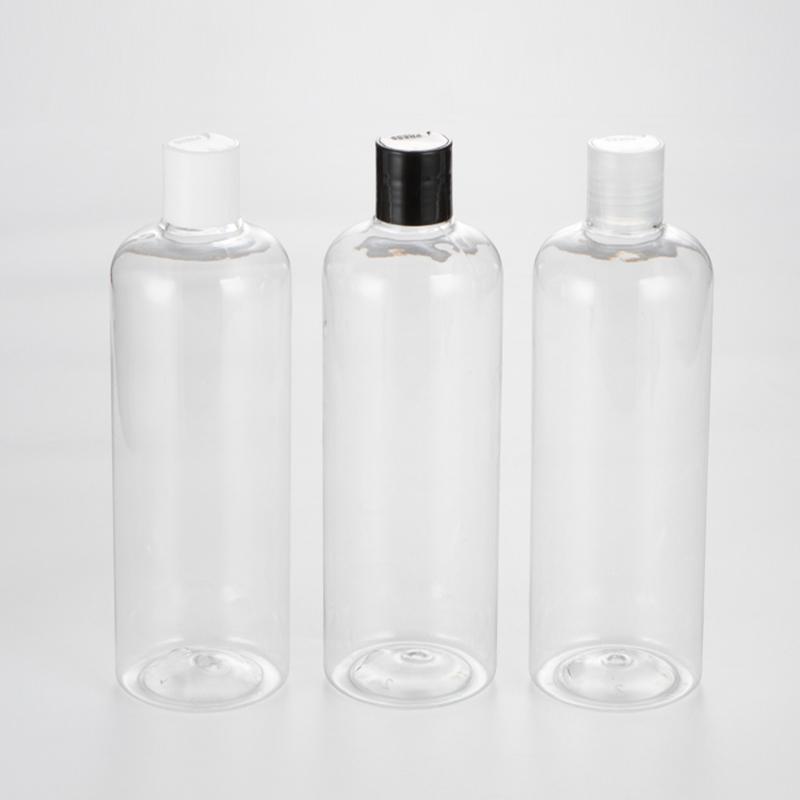 Lagerflaschen Gläser 12 x 500 ml Transparent leerer Kunststoff mit Scheibenoberteil Kosmetische Verpackungsbehälter für Shampoolotionen Flüssigkeit