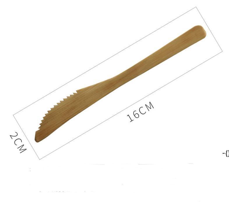 Solid Bamboo Dinner Knife Reusable Bamboo Cheese Knife Butter Jam Spreaders Dining/Serving Utensil DHB9613