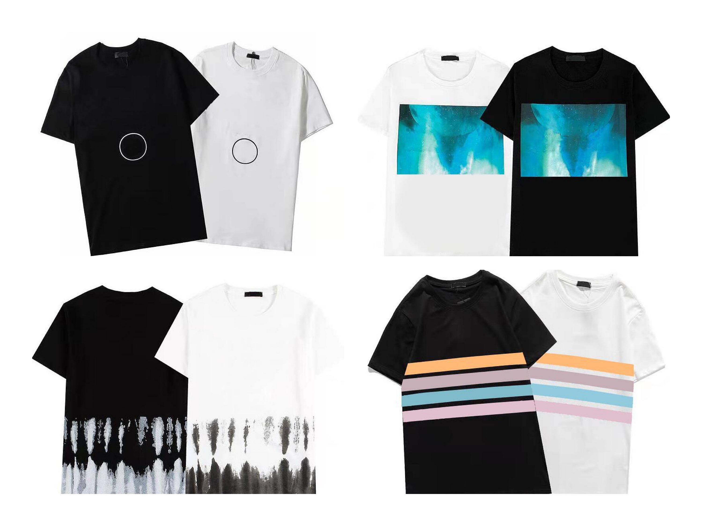 La maglietta del designer in cotone traspirante di alta qualità con maniche corte movimento all'aperto abiti da festa moderno