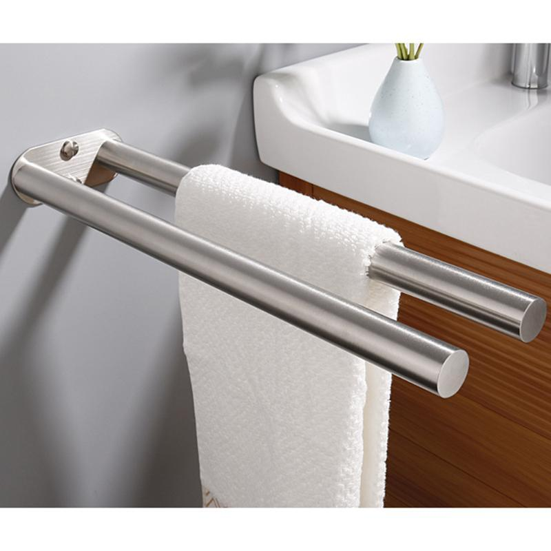 Towel Racks Anti-rust Stainless Steel Holder Storage Rack Home Toilet Wall Hanging Organizer Household Bathroom Classic Parts