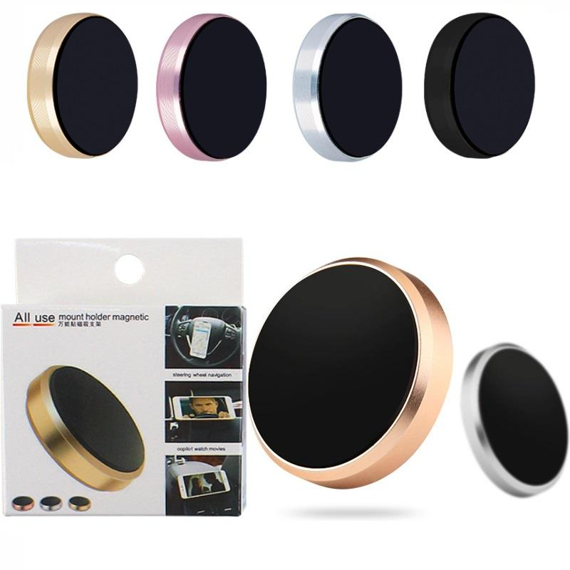 Metal Flat Stick Car Magnetic Mobile Phone Holder for iphone samsung mp3 smart phones with retail Package