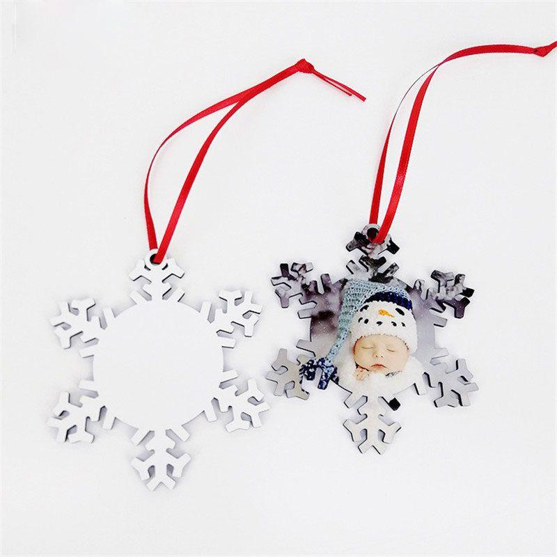승화 MDF 빈 라운드 매력 스노우 크리스마스 전송 인쇄 7 스타일 크리스마스 선물 양면 10 피스 / 로트 인쇄 가능