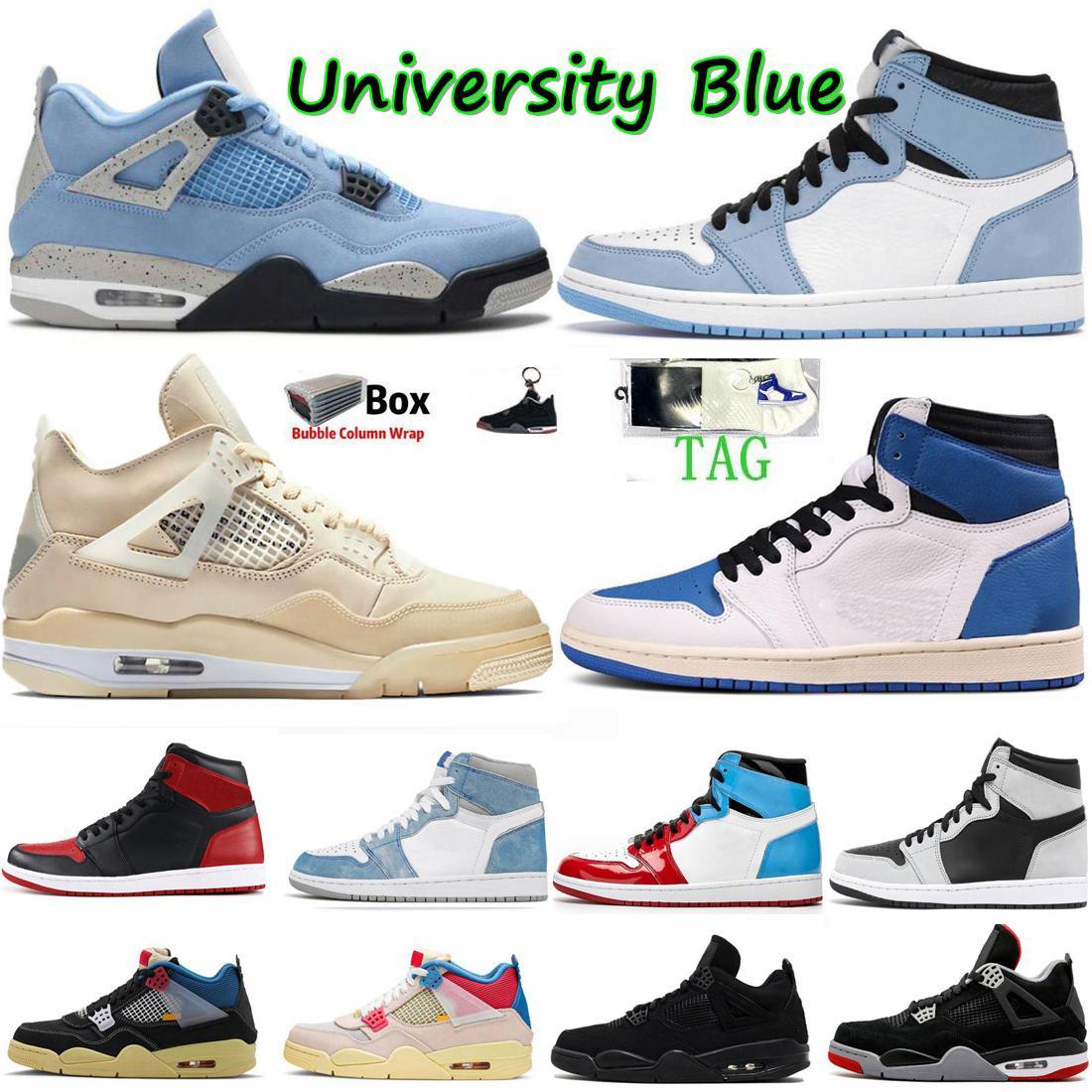 1 1s جامعة الأحذية الزرقاء عشبي الفضة تو أسود القط 4 ثانية أبيض الشراع الرجال كرة السلة الأحذية hyper الملكي bred النساء حذاء رياضة المدرب