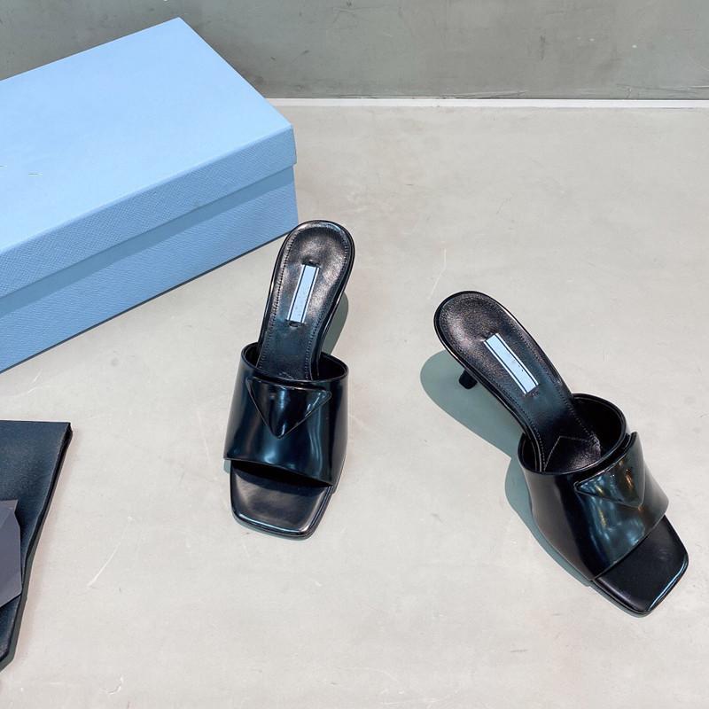 Sandálias de Luxo Sandálias Chinelos de Couro confortável