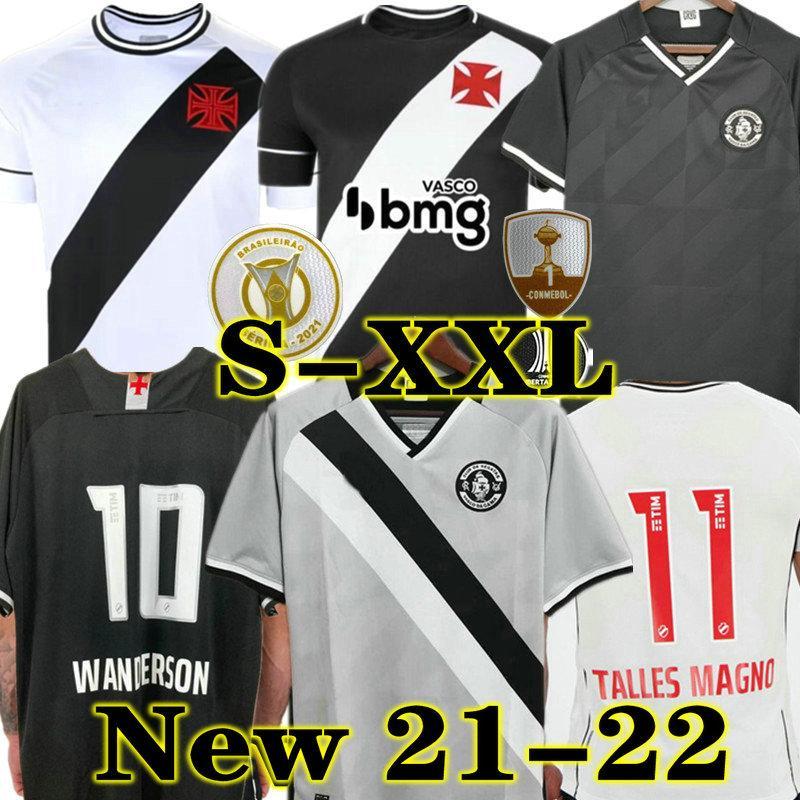 Wanderson 21 22 Vasco da Gama Fussball Trikots Maxi Rios Paulinho Fabiano Muriq 2021 2022 Schwarz Weiß Fußball-Hemd