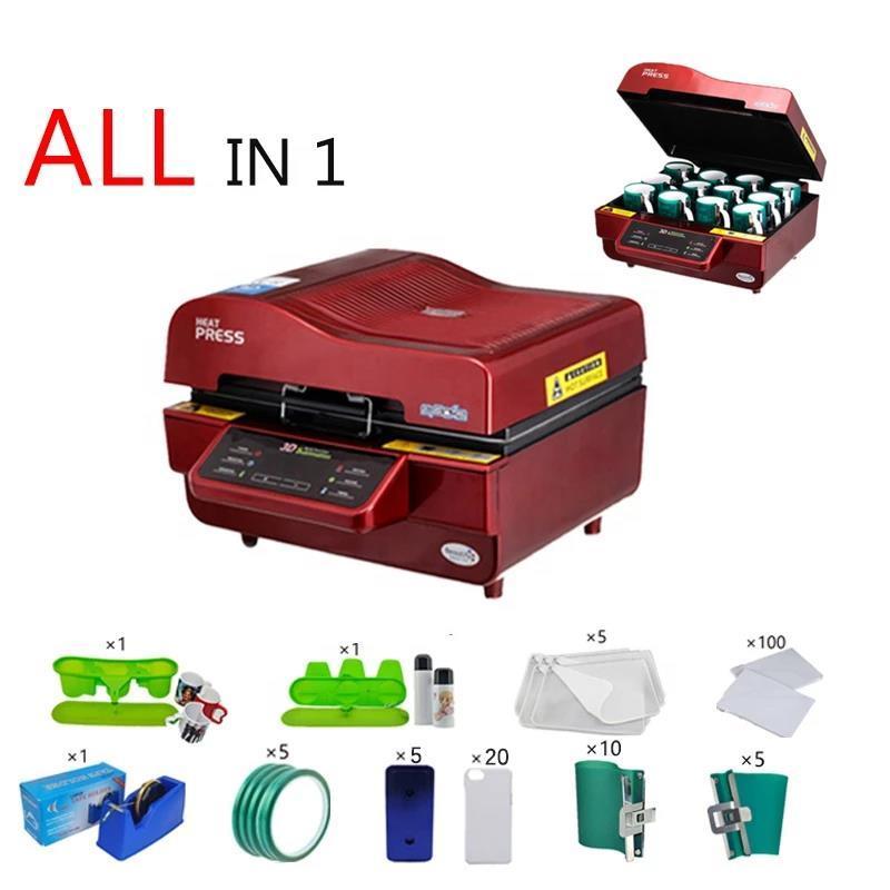 3D-Sublimations-Vakuum-Maschine / Wärmepresse Machiner-Becher /--T-Shirt / Telefongehäuse Drucker / Cup / Digitaldruckmaschinen