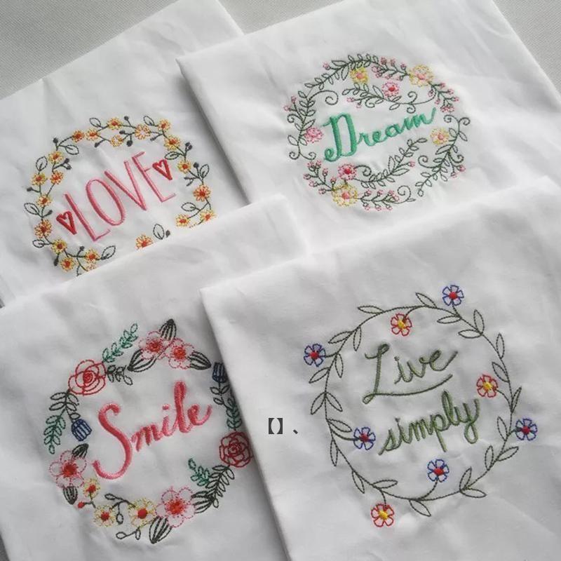 Table Napkin 6PCS/Lot Cotton Rectangle Servetten Dishtowel Kitchen Towel Dish Cleaning Cloth Tea Embroidered 45x70cm HHD7662