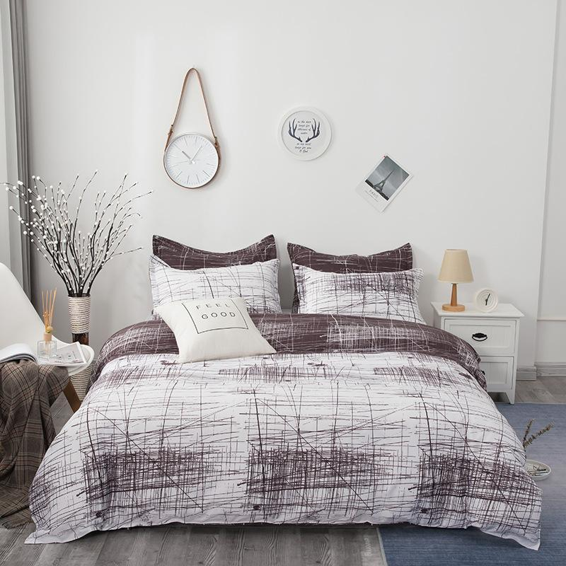 Bedding Sets Line Printed Set Nordic Brief Style Duvet Cover Adult King Size 220x240 Quilt Single Double Twin Full Bed