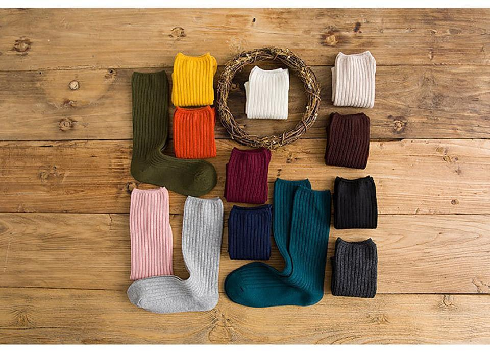 Sports Socks Solid Women Simple Winter Cotton Warm Breathable Elastic Force Fashion Mid For Female Yoga 2021