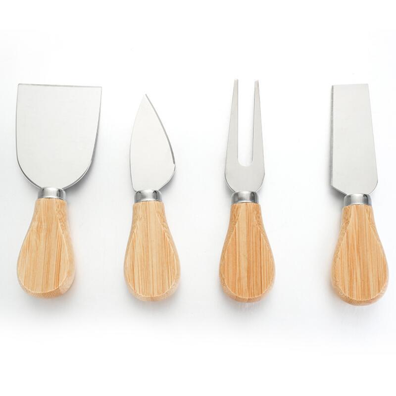 Ferramentas de queijo Conjunto de faca de carvalho GRAFY SHovel Kit graters cozimento pizza cortador de fatiadores eeb6132