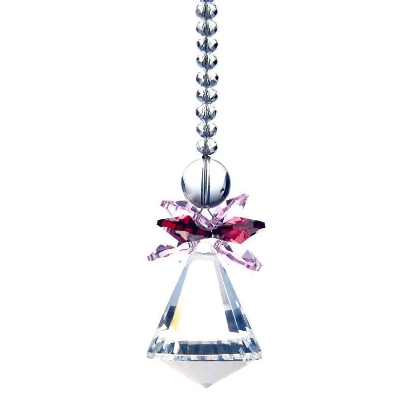 Chandelier Crystal Pink 1 Rainbow Maker Suncatcher Pendulum Lamp Prisms Chakra Pendants 40mm M02512-5