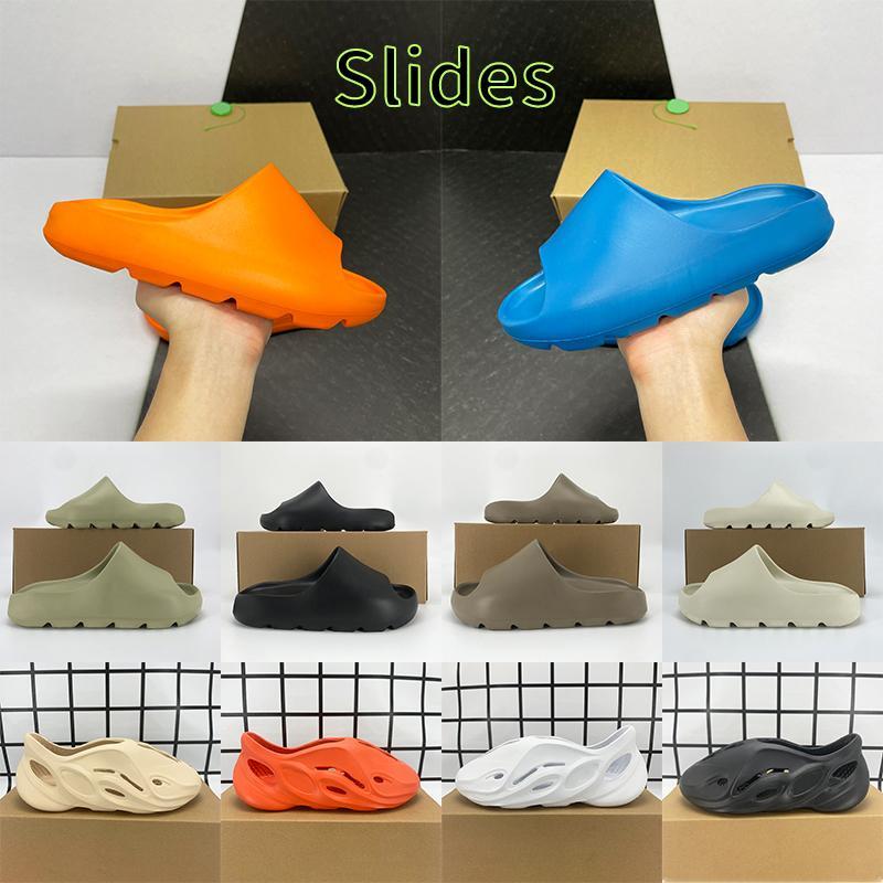 Mit Box Slides Slipper Sandalen Schuhe Enflame Orange Enfora Knochenharz Ruß Erde Braun Triple Black Ararat Männer Frauen Slide Sneakers
