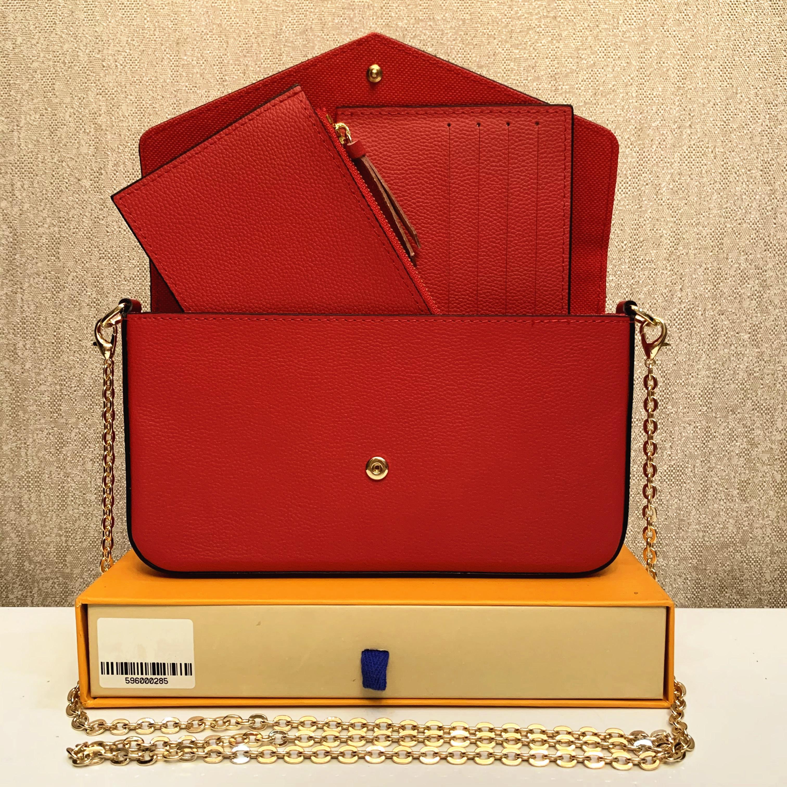 6 colori Borsa in rilievo in rilievo Borsa Borsa Borsa Originale Box Data Codice Moda Abbigliamento All'ingrosso Checker Plaid Flower M612676