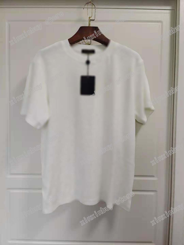 21SS Men Stampato T Shirt Emboss Lettera Abbigliamento Manica Corta Dinn Tag Lettere Polo Black Bianco Blu Marrone