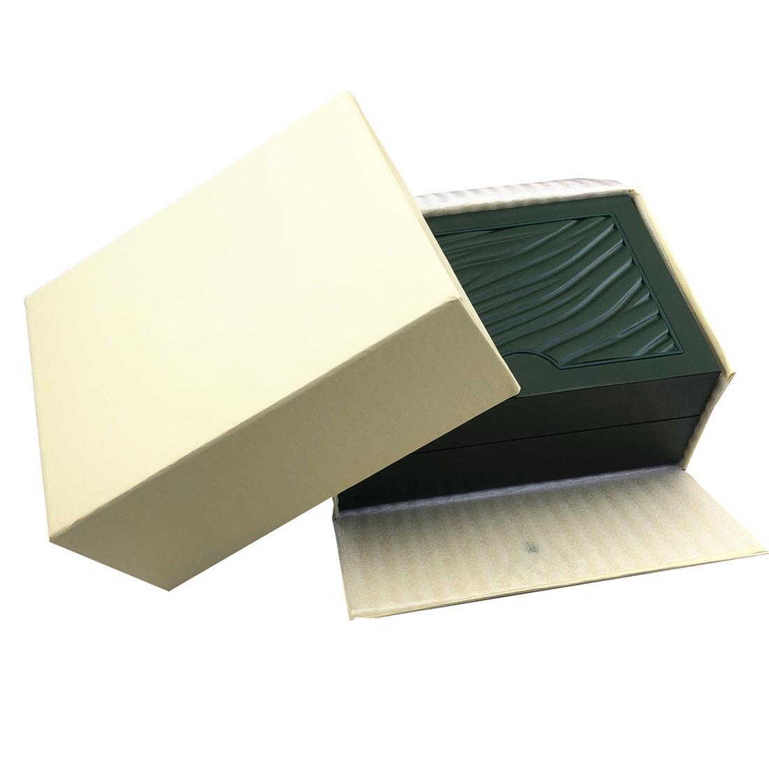 노란색 원래 고품질 Luxurys 시계 상자 논문 지갑 185mm * 135mm * 85mm 0.75kg 좋은 선물 정품 인증서, 수동, 보증 카드