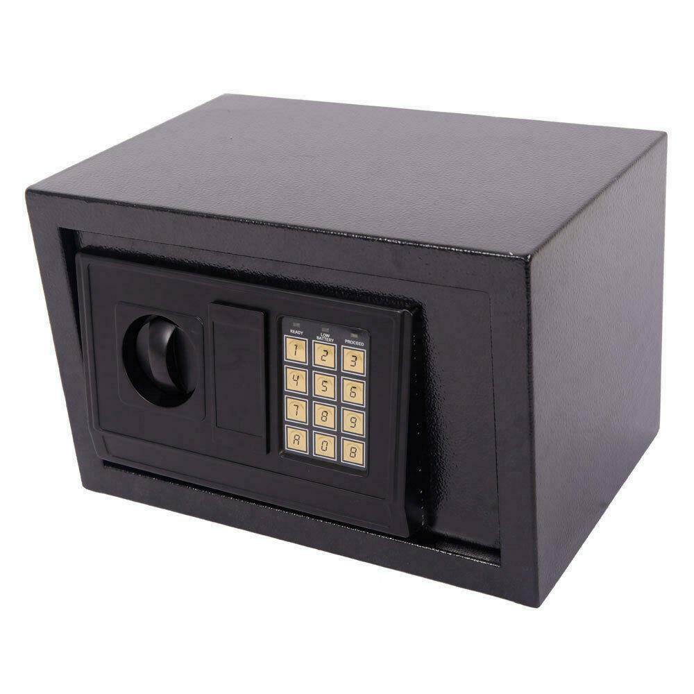 Küçük Dijital Elektronik Güvenlik Kutusu Anahtarsız Kilit Duvar Dağı Ofis Dolabı Siyah