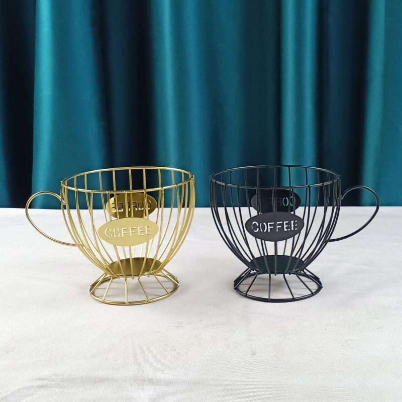 Eisen Schwarz / Golden Große Kapazität Multifunktionale Kaffeekorb Anti-Rost Creative Storage Home Zubehör Dropship Körbe