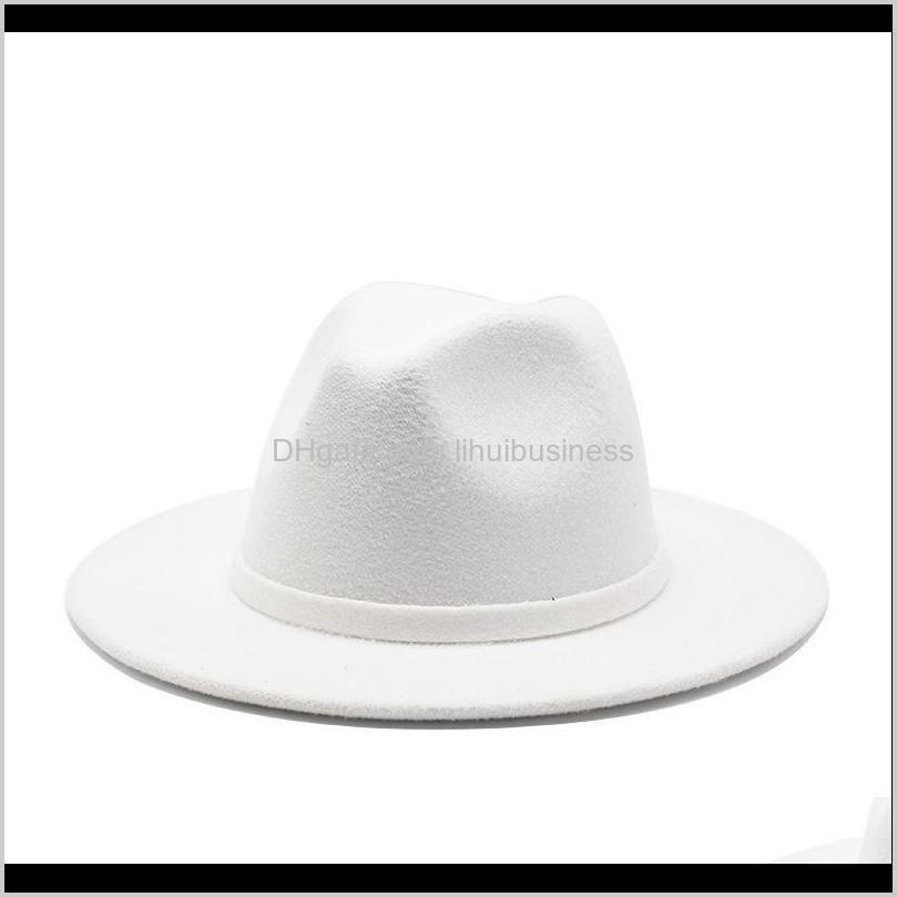 Sombreros, bufandas guantes de moda Aessiessorsiclásico Panamá Jazz Caps Hombres Mujeres Wool Field Fedora Hat British Estilo Ancho Simple Simple Trilby Party F