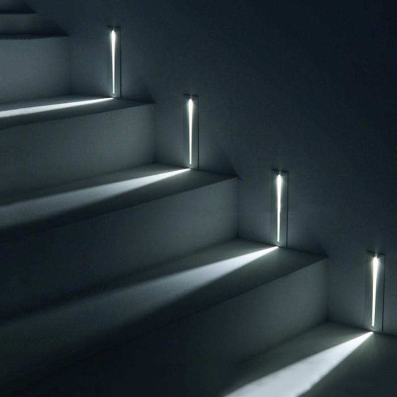 계단 코너 조명 3W 실내 단계 풍경 경로 조명 밤 빛 사다리 계단 복도 회랑 가리 벽 램프 램프