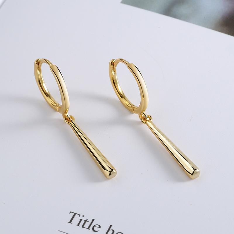 S925 실버 스트립 귀걸이 남성과 여성의 기질 간단한 귀걸이 패션 개성 남성의 날 SOLON WEEK 귀걸이