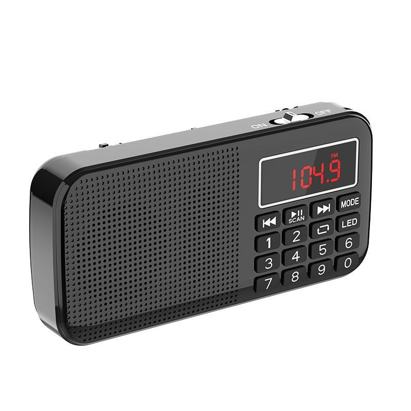 MP4 jogadores MP3 Música Player Speaker Portable Mini FM Rádio Scan auto com bateria 18650 e slot para cartão TF
