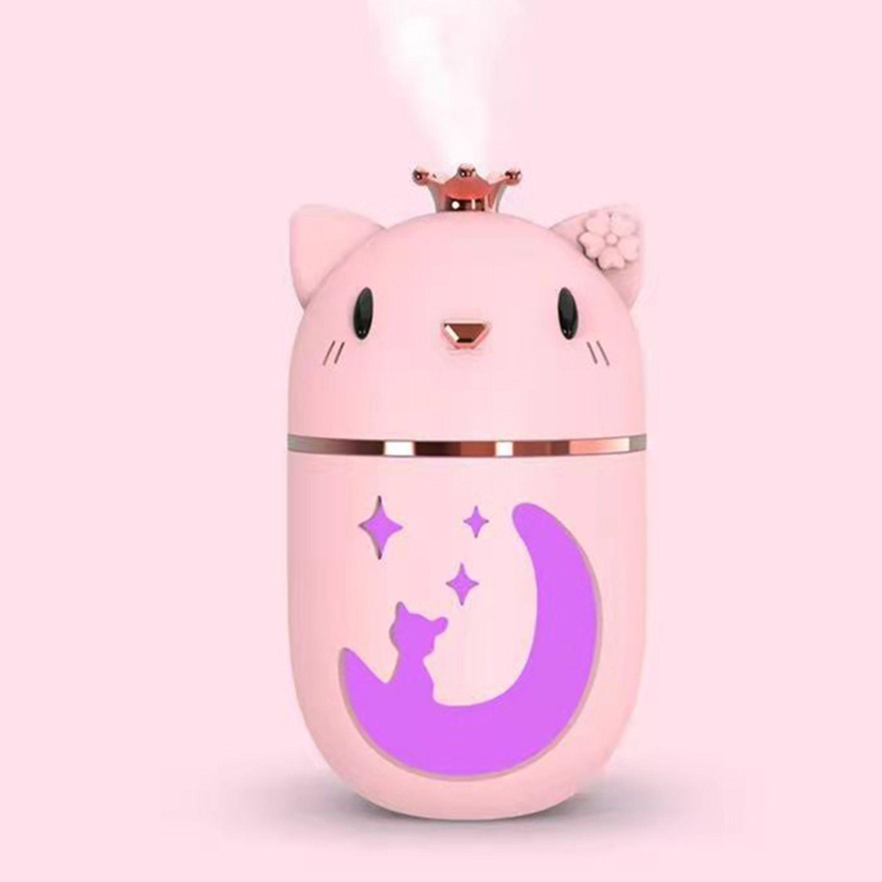 Luftbefeuchter Ankunft USB Ultraschall Diffusor Kleine niedliche Cartoon Air Car Home Respeener Aroma ätherisches Öl coolen Nebelmacher mit LED-Nachtlicht