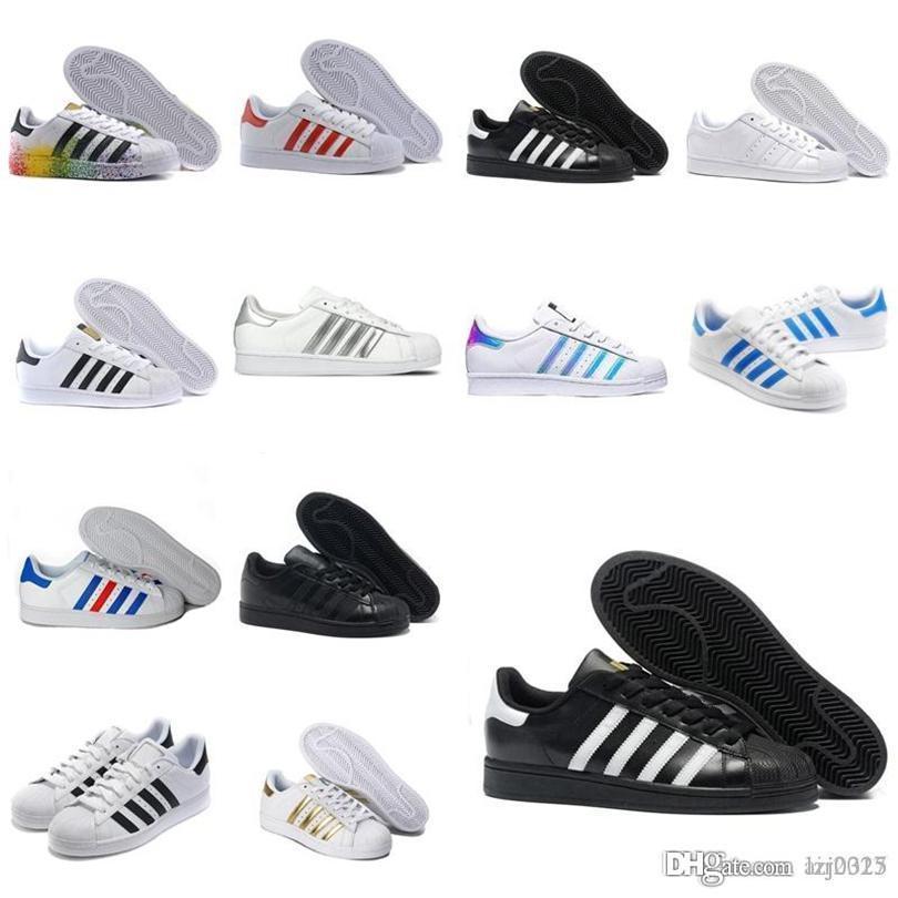 Originales Botas Superestresas Blanco Rojo Oro estrellas Pride Sneakers Supers Star Lady Men Sport Casual Shoes 36-44 A1x-154