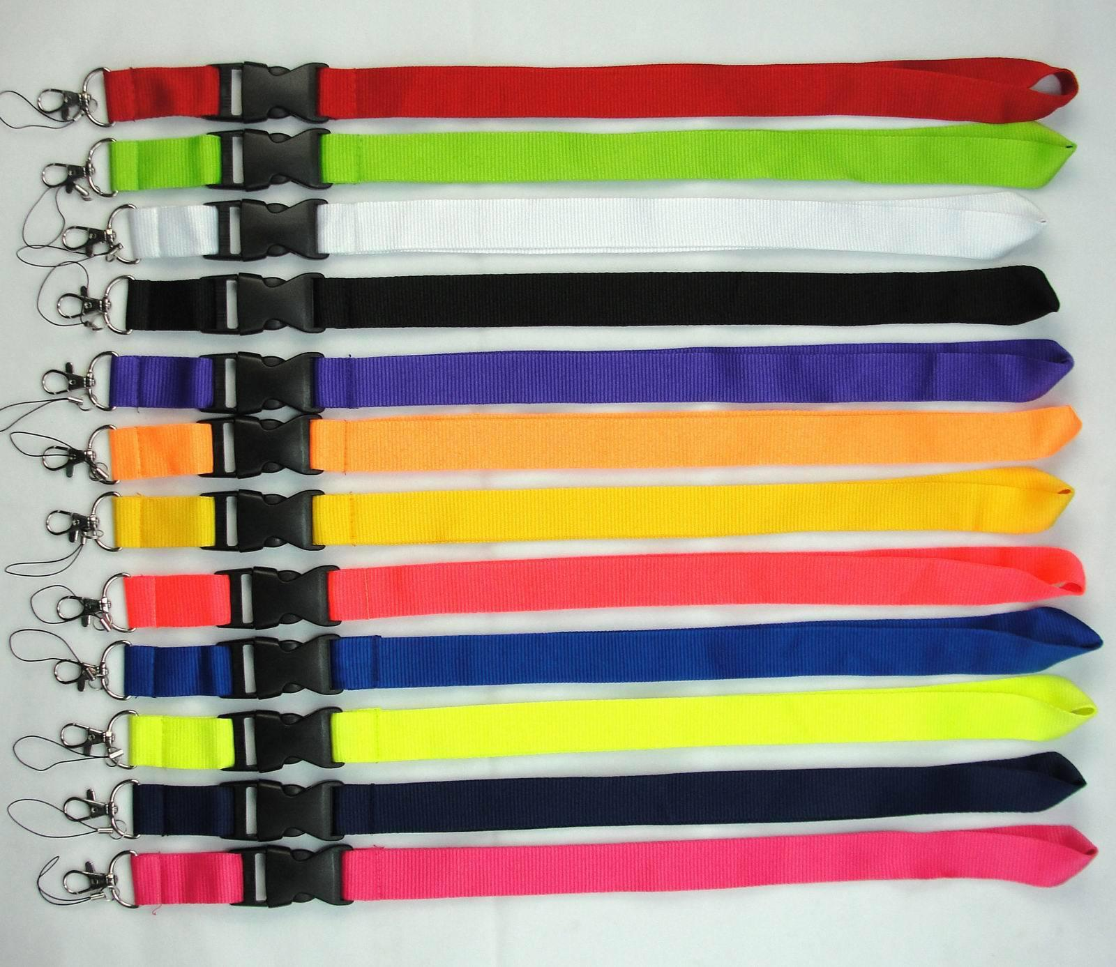 Нейлоновый ремешок для цепь брелок брелок для одежды ремешок для одежды для мобильного телефона брелок шеи шеи сплошной цвет ID рабочей карты ремешки
