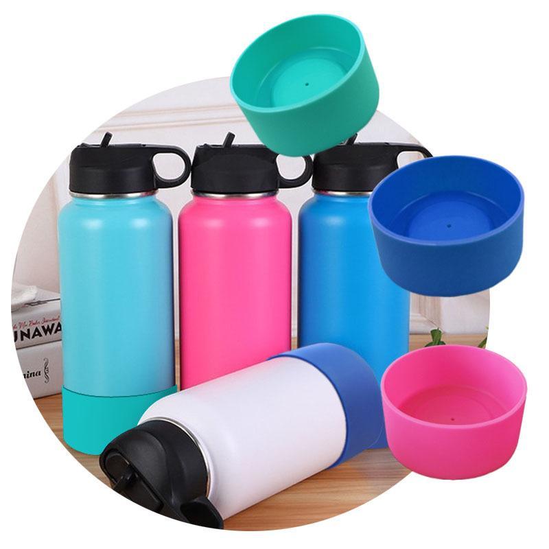 Posavasos de silicona para 32 oz y 40 oz Botella cubierta cubierta protectora tapa taza de goma matraz de vacío