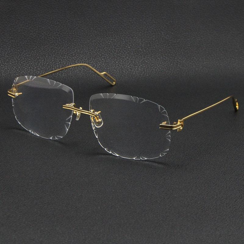 남성 여성을 판매하는 여성 무선 금속 선글라스 프레임 안경 루네스 패션 클래식 안경 고품질 안경 프레임 남성과 여성 여러 모델