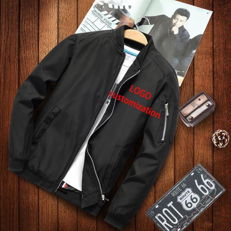 Jaquetas dos homens (personalização do logotipo) Juventude jaqueta primavera outono tendência casual todos os tipos de voo de beisebol gota
