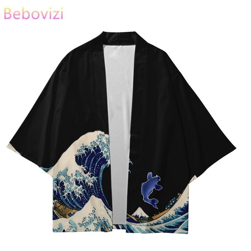 Plus Size XXS-6XL 5XL Chinesischer Stil Japanische Streetwear-Strethigan Frauen Männer Herren Harajuku Haori Cosplay Kimono Top Yukata Asien Kleidung 210603