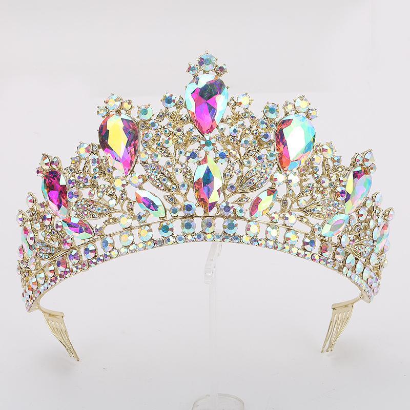 Saç Klipler Barrettes Lüks Gelin Takı Rhinestone Tiara Aksesuarları Band Düğün Şapkalar Kafa Taç Kraliçe Gelinler Tiaras