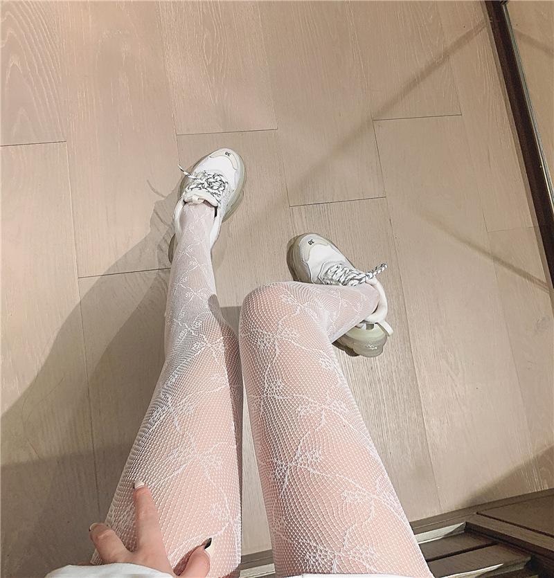 Calze a rete Jacquard BOWKnot Girls Sexy Retro Pantyhose Bottoming Socks Hosiery