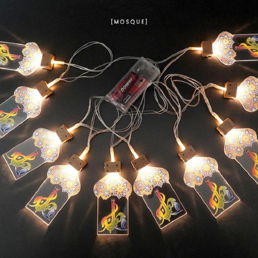 مهرجان رمضان حزب الصمام سلسلة مسجد النفط ضوء فانوس EIDS سلاسل مبارك الإسلامية مسلم الحدث الرئيسية عيد الفطر ديكور GGA4685