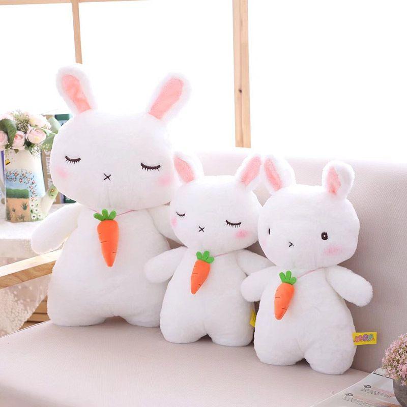 Puppen Super Hässliche Plüsch Carrot Puppe Weißes Kaninchen weiches Baby Pucify Spielzeug Kinder Fotografie Requisiten