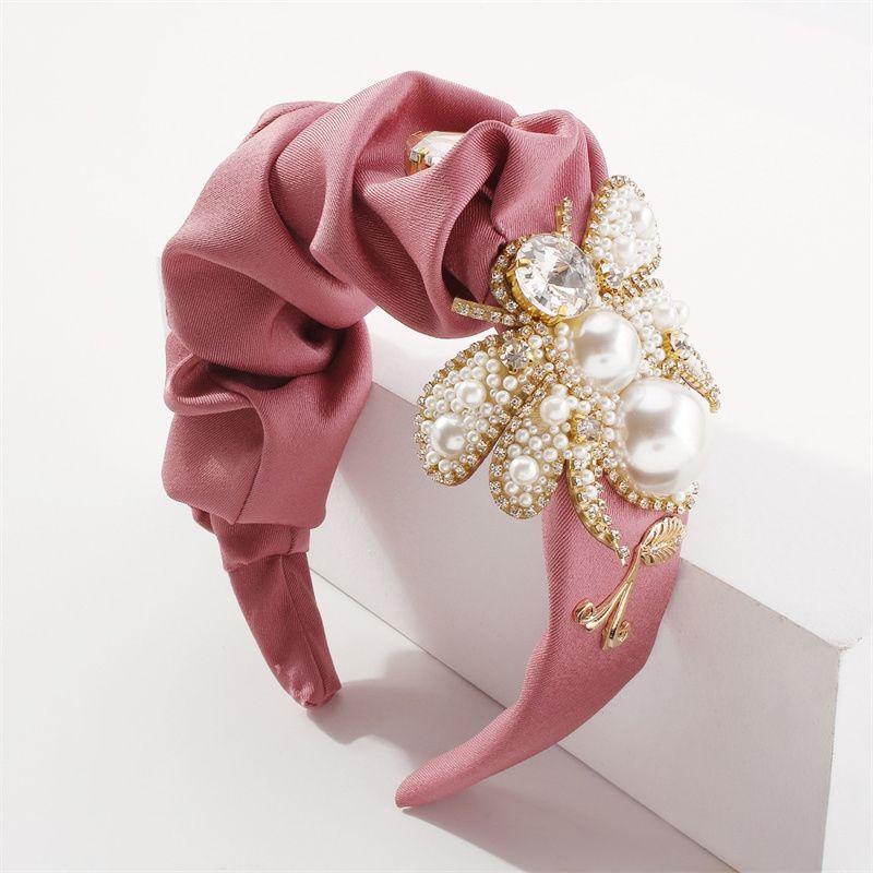 Estilo del palacio Exagerado Portátil Portátil Vintage Amplio Amplio Pelo Joyería de Pelo Moda Presionado Tejido de Abeja Hairbands para boda